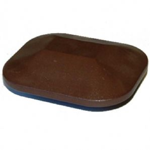 Walnut Eco Fencing Flat Plastic Post Cap